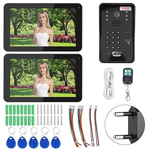 Videoportero Sistema de Timbre, Videoportero Sistema de teléfono, Grabación de Videos para Villas Apartamentos Oficinas Edificios públicos Casas Hoteles Mejoras para el hogar(Transl)