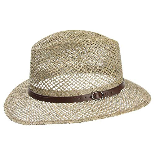 Lipodo Sombrero de Paja Farmer Hombre - Made in Italy Sol Verano Playa con Banda Piel Primavera/Verano