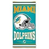 WinCraft NFL Miami Dolphins Fiber Beach Towel, 30 x 60-Inch