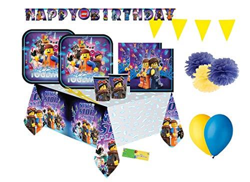 DECORATA PARTY Kit n 54 Coordinato Compleanno Movie Festa Bambino
