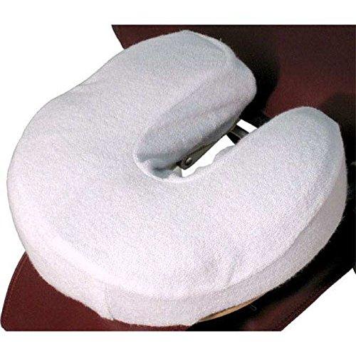 TAOline Flanell-Kopfstützbezüge, 4er-Set, weiß, 100% Baumwolle, in Hörnchenform für Kopfstützen von Therapieliegen oder Massageliege