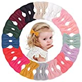 32PCS/16Colors in Pairs 3 Inches Hair Bows Clips Grosgrain Boutique Felt Hair Bows Barrattes Accessories for Baby Girls Teens Infants Kids Toddlers Children