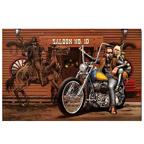 Kingm Ghost Rider David Mann Wall Art Posters Hd Print Photo Canvas Painting Home Living Room Decor Pictures Artwork Gift (23.62X35.43 in) 60X90 cm Frameless