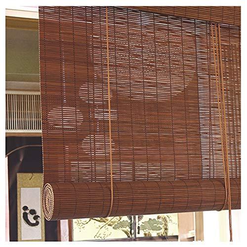 JIANFEI Bamboe blind licht filter scheidingswand gordijn Rollo houten track Hefsysteem, 3 kleuren, 23 maten ondersteuning aanpassing
