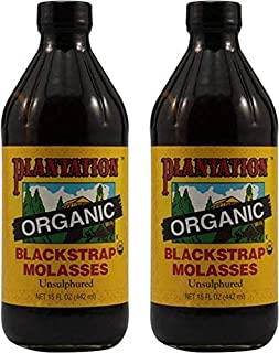Plantation Blackstrap Molasses, Organic, 15 oz (Pack of 2)