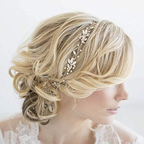 Yean Leaf Bride Wedding Hair Vine Bridal Crystal Headband Rhinestone Hair Accessories for Women product image