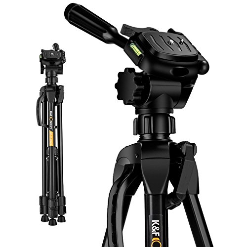 K&F Concept 60 inch Aluminum Travel Tripod with Lightweight Carry Bag...