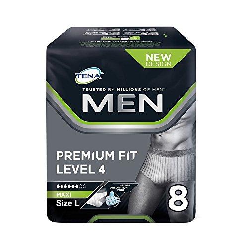 Tena Men Level 4 Pants Large, Monatspaket mit 40 Pants (4 Packungen je 10 Einweghöschen)