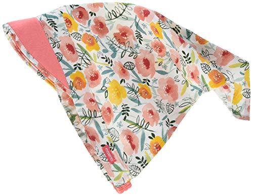 maximo Mädchen Kopftuch Mütze, Mehrfarbig (lachsrosa-gelbe Blumen 37), (Herstellergröße: 53)