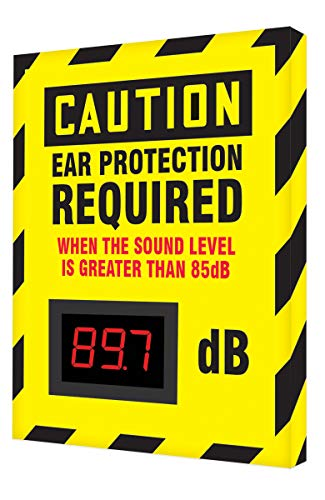 Accuform SCS601 Decibel Meter Sign, 12 x 10 inch