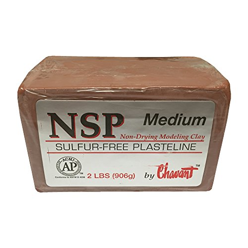 Chavant - Bloque de plastelina sin azufre (906 g)