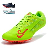 SMXX Chaussures d?athlétisme, Chaussures pour Hommes et Femmes, Chaussures d?entraînement légères et antidérapantes (38 EU, Vert-10)