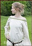 Battle Merchant Vestido Medieval Mohammed de algodón/Lino Vestido para Vikingo, Larp, Edad Media - Natural/Oliva