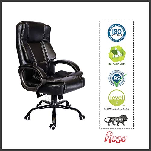 Rose Designer Chairs SpaceX Chair (Leatherette, Black)