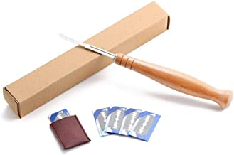 SharpointHome Bread Bakers Lame Slashing Tool Dough Making Cutter 5 Blades With Wood Handle