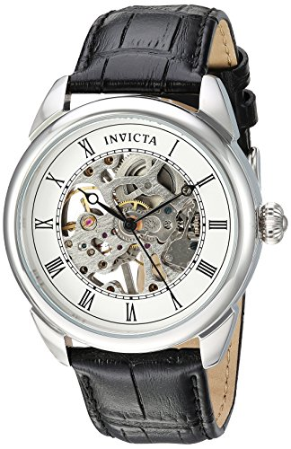 Invicta Specialty Reloj mecánico de acero inoxidable para hombre con correa de poliuretano, negro, 22 (Modelo: 23533)