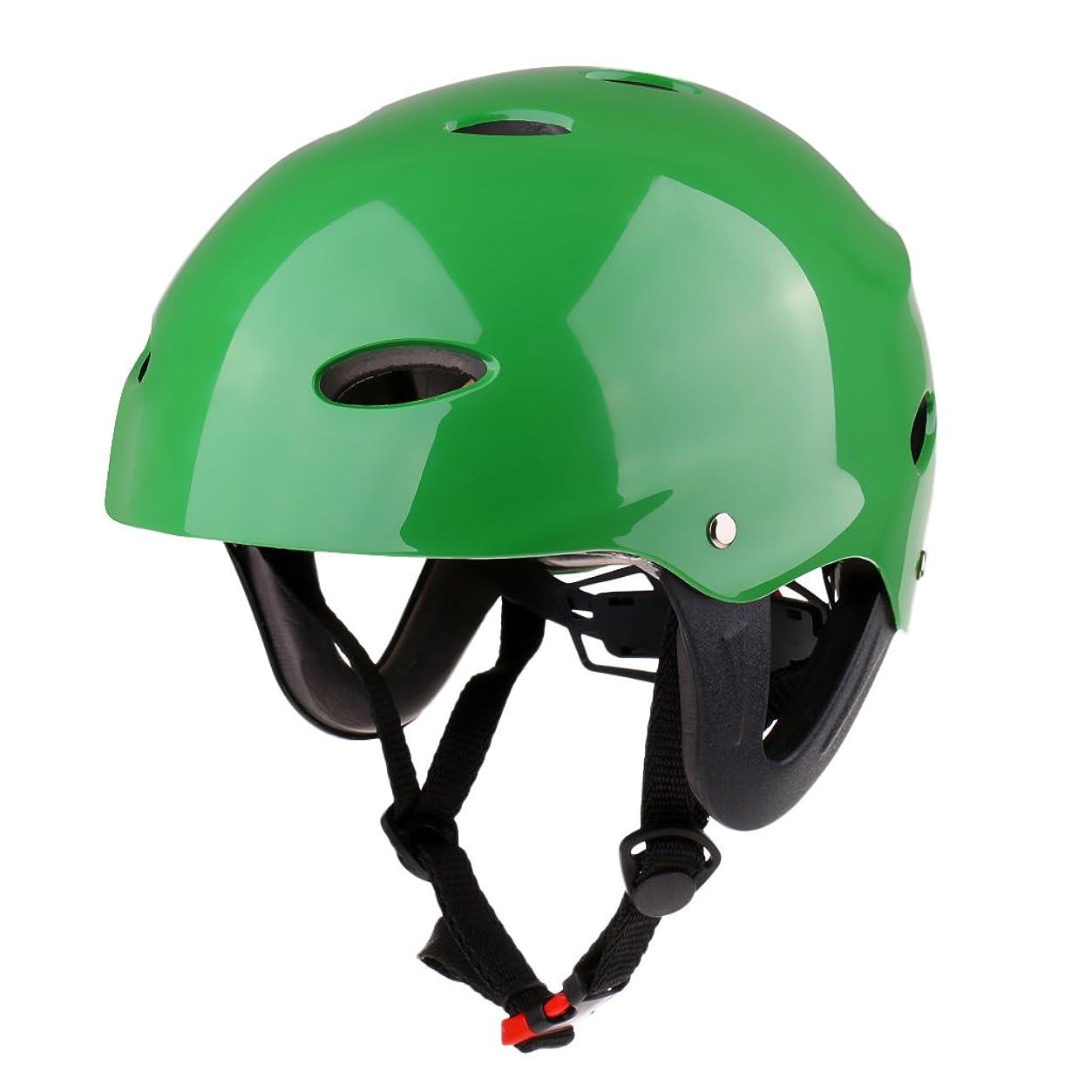 謎チョーク魅惑的なFlameer ウェイクボード カヤック カヌー ボート サーフに適用 ウォータースポーツ 安全ヘルメット 全2サイズ3色