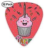 Cupcake de cumpleaños con sabor a fresa rosa con vela Cute Face Confetti Bow Tie and Dots Dark Coral (12 Pack)