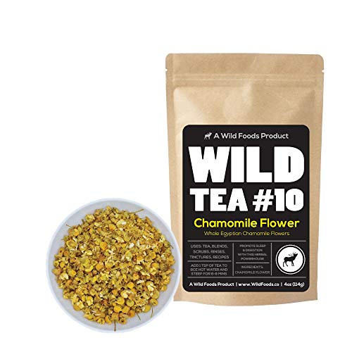 Herbal Chamomile Tea by Wild Foods, Organically Grown Egyptian Chamomile, Wild Tea #10 by Wild Food (8 ounce)