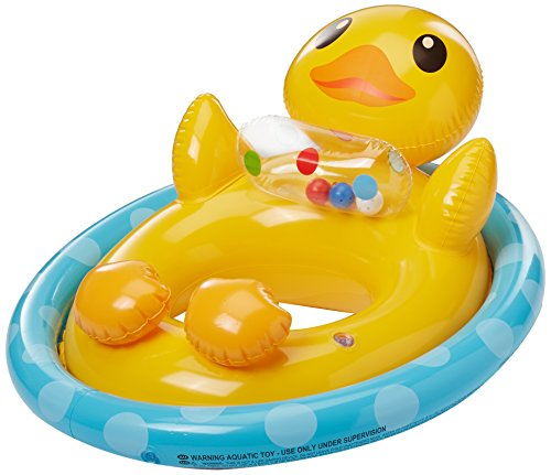 Intex Inflatable See Me Sit Pool Ride for Age 3-4 (Duck)