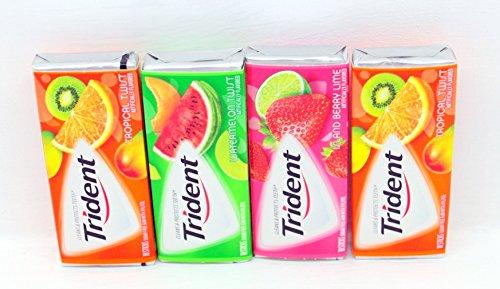 Trident Fruit Variety 4 (14 Stick) Pack - Tropical Twist, Watermelon Twist & Island Berry Lime BUNDLED!