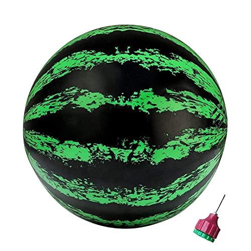 Detrade Wassermelonen-Ball, Pool-Spielzeug für Unterwasserspiele Wassermelone Aufblasbarer Ball, Kinder, Jungen, Mädchen, oder Erwachsene Fußball, Basketball und Rugby für Wasserspiele (Grün)