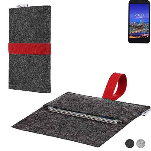 flat.design Handy Hülle Aveiro für Vestel 5530 passgenaue Filz Tasche Case Sleeve Made in Germany