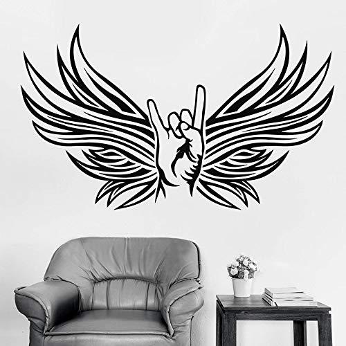 Tianpengyuanshuai Adhesivo de Vinilo decoración del Dormitorio Cabra Fan Rock y Heavy Metal Music Wall Sticker 42X43cm