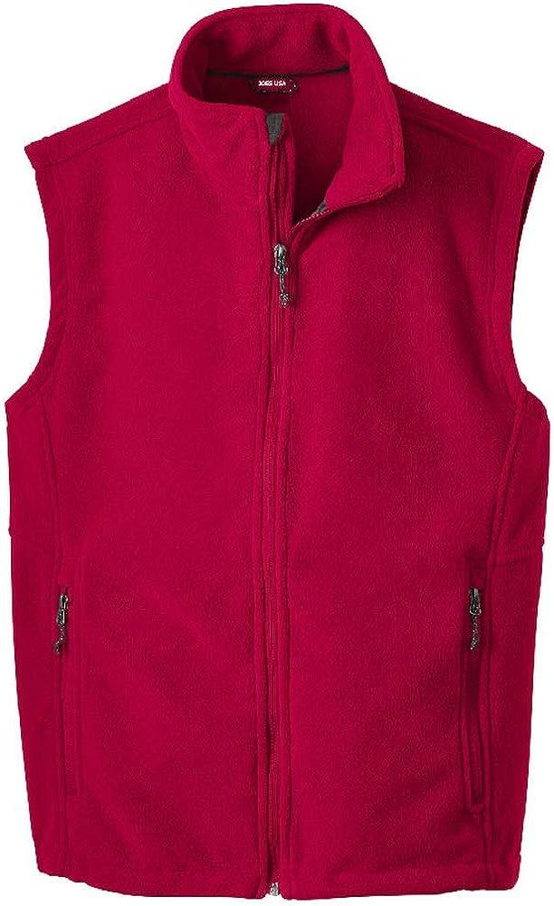 Joe's USA Supersoft Fleece Vest Sizes XS-6XL
