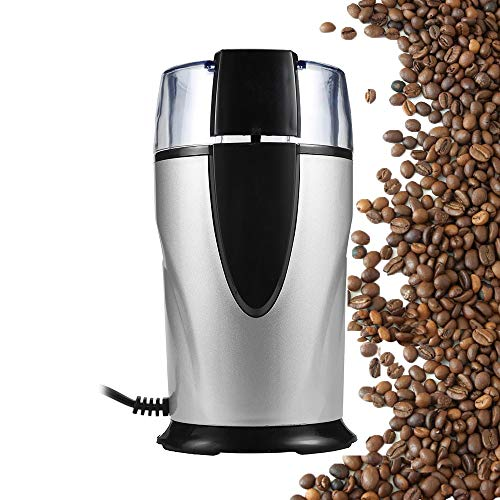Best Quality - Manual Coffee Grinders - Electric Coffee Grinder Spice Maker Stainless Steel Blades Coffee Beans Mill Herbs Nuts Cafe Home Kitchen Tool EU Plug - by Tini - 1 PCs
