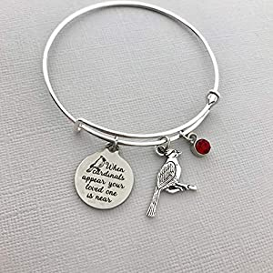 When Cardinals appear your loved one is near bracelet – Sympathy Gift Memorial Jewelry Family Loss Remembrance…