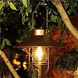 Farol solar de jardín para colgar al aire libre, linterna solar...