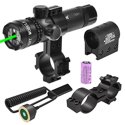 CVLIFE Green Gun Sight Laser 532nm Green Rifle Sight with 2 Mounts and 2 Pressure Switches