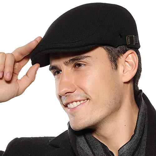 Superora Casquette Béret Plate Homme Chapeau réglable Plate Automne Hiver