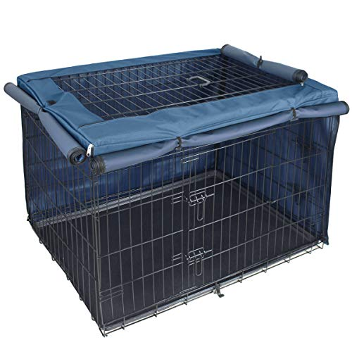Explore Land Dog Crate Cover for 48 Inches Wire Cage, Heavy-Duty Lattice Pet Kennel Covers Compatible with 1 2 3 Doors Standard Metal Crate Covers Kennel