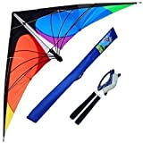 Hengda Kite-Delta stunt kite for Kids and Adults,70-Inch outdoor sports,Beach and Fun sport kite