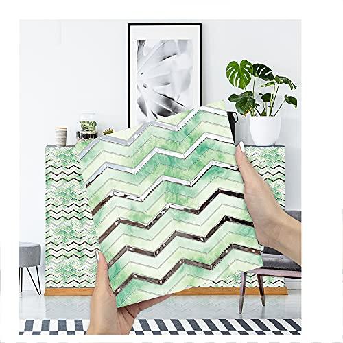 JAXU CWN 'ART B1 3D Pegatinas de Azulejos de Bricolaje, Pegatinas de Pared de PVC Impermeables Decoración para la decoración del Dormitorio de la Cocina Cada Paquete de 10 Piezas