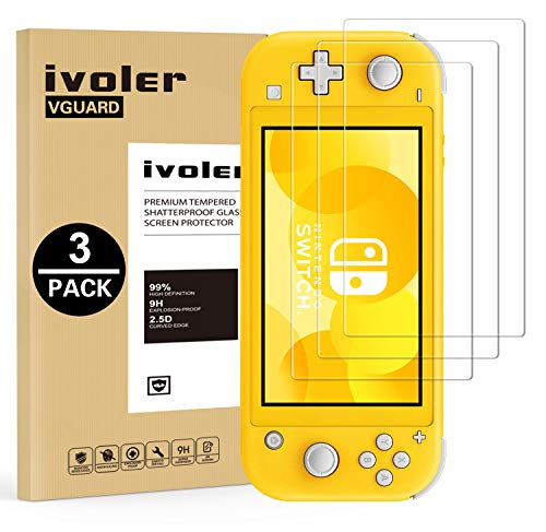 VGUARD [3 Pack] Pellicola Vetro Temperato per Nintendo Switch Lite [Garanzia a Vita], Pellicola Protettiva Protezione per Schermo per Nintendo Switch Lite