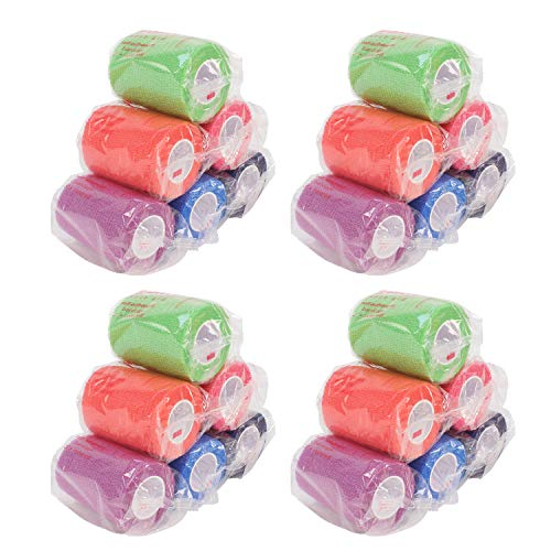 Ever Ready First Aid Self Adherent Cohesive Bandages 3quot x 5 Yards  24 Count Rainbow Colors