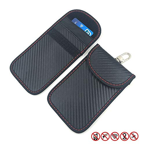 Boomersun Keyless Go Schutz Autoschlüssel Schutz Keyless Hülle 2 Pack RFID Funkschlüssel Abschirmung Schlüsseltasche Schlüsseletui Schlüsselmäppchen Car Key Safe