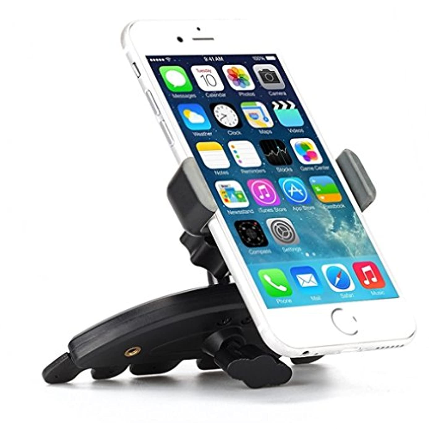 High Quality CD Player Slot Car Mount Phone Holder Dock for Net10, Straight Talk, Tracfone Galaxy Proclaim, Galaxy S2, S3, S3 Mini, Precedent, Discover, Ace Style- Motorola Droid Turbo 2