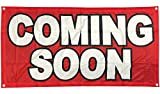 4Less 2x4 Ft Coming Soon Banner Vinyl Alternative Store Sign Fabric rb