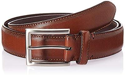 Florsheim Men's Sinclair 33MM Dress Casual Leather Belt, Cognac, 42