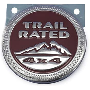 "Badge Glow /""Beach Rated/"" 4x4 Metal Automotive Badge Specifically Designed For The Jeep Wrangler Cherokee ~ Stick it Anywhere!"