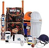 CW Gorila Batsmen Cricket Set Adulto con bolsa de críquet Bat Ball Junior Cricket Set Mini Tamaño LH -RH Juego de bateo (Tamaño completo para 14+ y arriba, mano derecha)