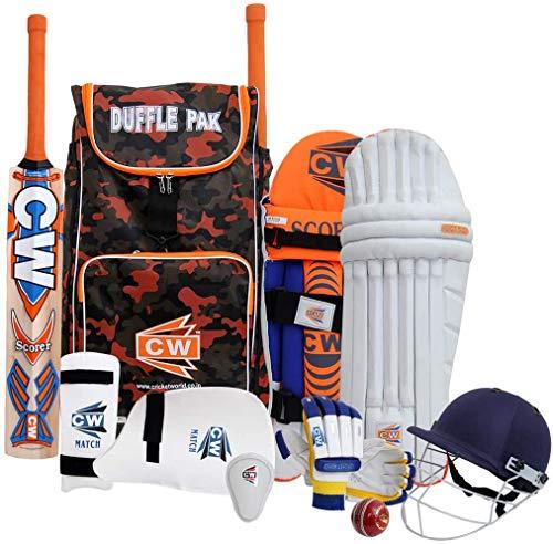 CW Bouncer Mini-Cricket-Set für Erwachsene, Schlag-Cricket-Ausrüstung im Sport-Rucksack, Tragetasche, Schläger (voll für ab 14 Jahren, rechts)