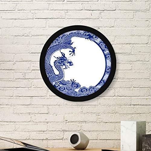 DIYthinker Chinese Cultuur Blauwe Draak Ronde fotolijst Art Prints Van Schilderijen Thuis Muursticker Gift