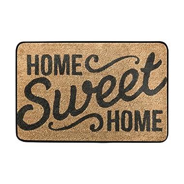 WXLIFE Home Sweet Home Welcome Quote Doormat Indoor Outdoor Mat Non Slip Polyester for Door Kitchen Bedroom Garden,15.7''x23.6''
