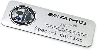 Metal Silver AMG Logo Special Edition Badge Car Sticker Emblem For Mercedes-Benz