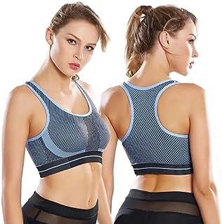Sports Bra Seamless Top Yoga Running Gym Crop Top Push Up Bra Vest Sportswear Fitness Full Cup for Women